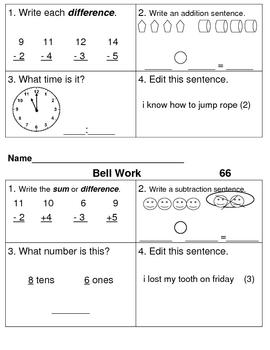 Bell Work Days 61-120