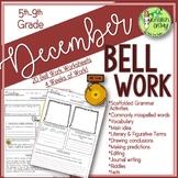 Bell Ringers, Bell Work, Daily Homework {December}