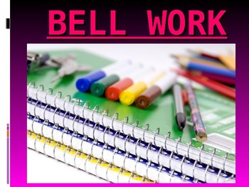 Bell Work Exercises