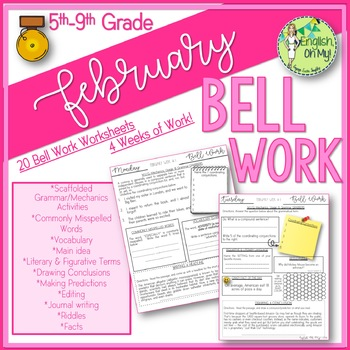 Bell Ringers, Bell Work, Daily Homework {February}