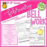 Bell Ringers, Bell Work, Daily Homework {February}