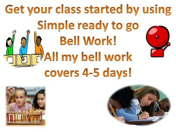 Bell Work topic: Forces & Motion 2