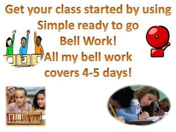 Bell Work Heredity & Matter Intro
