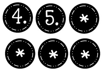 Bell Work Labels