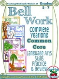 Bell Work Language Arts Yearlong Workbook: Middle Grades {