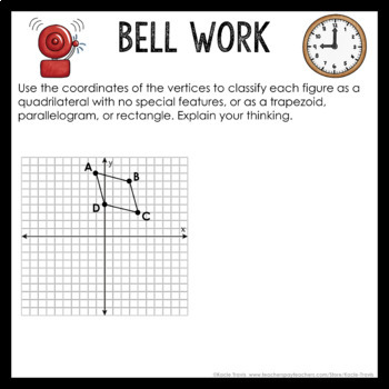 Bell Work Polygons & Quadrilaterals (Geometry Bell Ringers, Warm Ups)