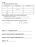 Bell Work - Pre Order of Operations Lesson CCLS Aligned 6.EE.1