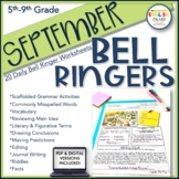 Bell Ringers, Bell Work, Daily Homework {September}