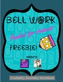 Bell Work Sheet