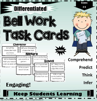 Bell Work Task Cards