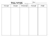 Bell Work Template 2