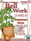 Bell Work Language Arts Fall Semester: Middle Grades {Common Core Skills}