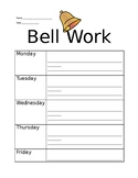 Bell Work and Exit Slip