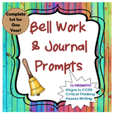 Bell Work and Journal Bundle for a Year- ELA