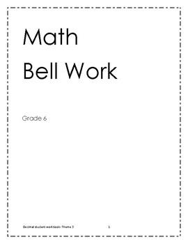 Bell Work grade 6- Theme 3