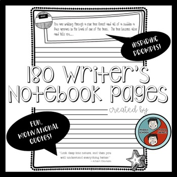 Bell-ringer Writing Prompt Pages for Middle and High School