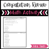 Bell work Computation Review for Algebra 1 {Growing Resource}