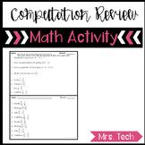Bell work Computation Review for Algebra 1