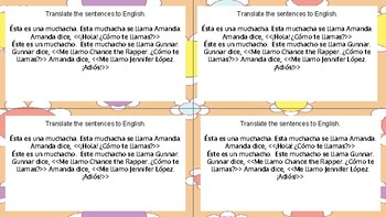 Bell work - Intro Unit Spanish 1