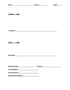 Bell work and homework template