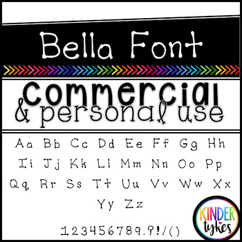 Bella Font by Kinder Tykes