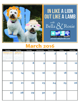 Bella and Rosie March Calendar