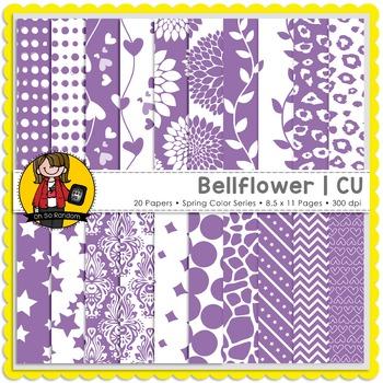Bellflower Digital Papers {CU}