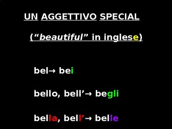 "Italian Made Simple: The Adjective ""Bello"""