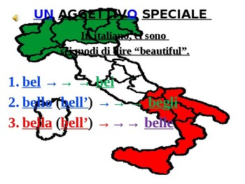 "Italian Made Simple: The Adjective ""Bello"""