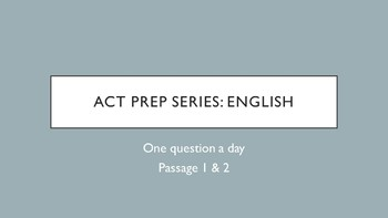 Bellringer ACT Prep - English (1 of 3)