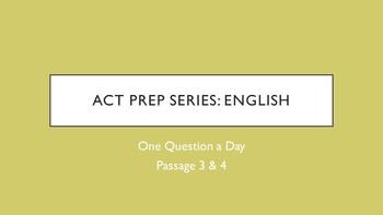 Bellringer ACT Prep - English (2 of 3)
