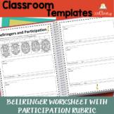 Bellringer Worksheet with Participation Rubric