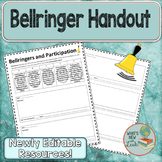 Bellringer Worksheet with Participation Rubric