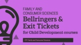 Bellringers for Child Development courses (Family and Cons