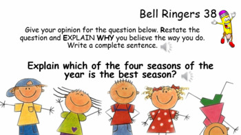 Bellringers - Restate and Answer for Special Education and Lower Ed