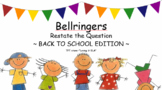 Bellringers - Restate and Answer for Special Education and