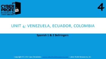 Bellringers for Spanish 1 and 2 (unit 4)