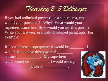 Bellringers/Classroom Warmups 4 Powerpoint