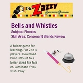 Bells and Whistles Folder Game for Consonant Digraph Review