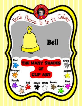 Bells in 12 Colors - Great for Color sorting, Making Games & more ~ Free Clipart