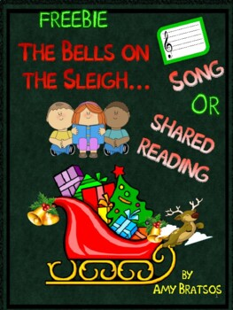 """Bells on the Sleigh"" Book, Song, & Class Book Page Christmas Literacy Activity"