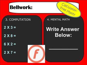 Bellwork, Bellringers, or Warm-ups for an entire Number Sense Unit - Smartboard!