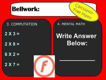 Bellwork, Bellringers, or Warm-ups for an entire Number Sense Unit - Smartboard!