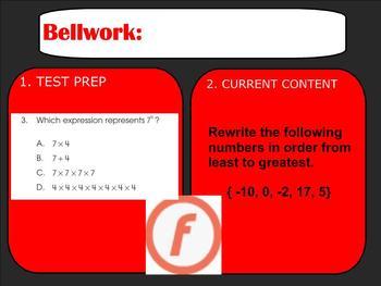 Bellwork, Bellringers, or Warm-ups for an entire Number Se