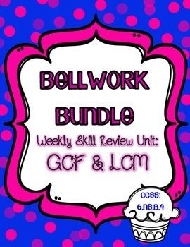 Bellwork Bundle ~ GCF & LCM