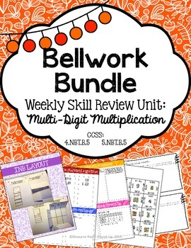 Bellwork Bundle ~ Multi-Digit Multiplication