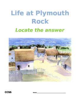 Bellwork ~ COMMON CORE Life at Plymouth Rock Worksheet and KEY
