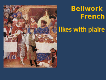 Bellwork French likes with plaire