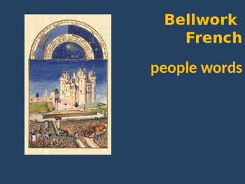 Bellwork French people words
