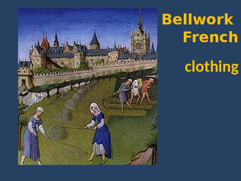 Bellwork French vocabulary clothing